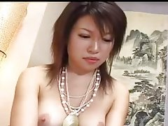 Playing with her japanese hairy hole