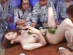 Sexy babe from Japan is performing sensible titjob to boy-friend