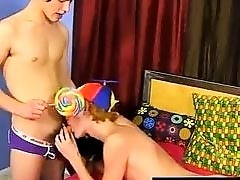 Gay fuck Josh Bensan is stunned by Preston Andrews' huge... lollipop!