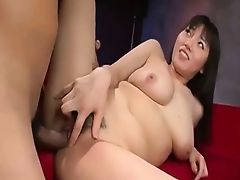 Pretty Busty Japanese Hairy Cunt Creampied