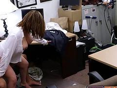 Milf slut boss gets fucked at work by huge dick