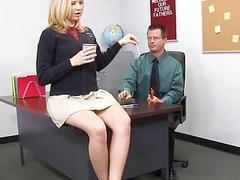 Girl rides a mature dick