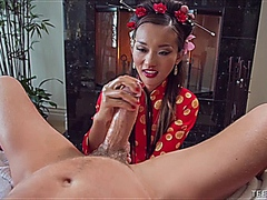 Lil Alina Li Fucks A Big White Cock To Perfection