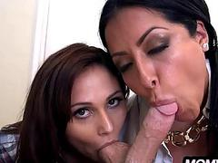 Mom fucks her daughter's boyfriend really good  Kiara Mia & Ariana Marie   05.wmv