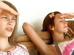 Three serbian teenagers masturbating