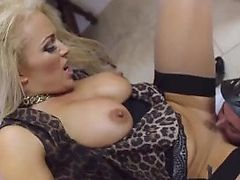 Blonde and brunette threesome xxx first