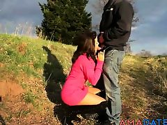 german amateur couple outdoor creampie