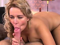 Dane Jones Thick blonde Czech with big tits sucks and fucks