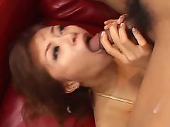 Japanese threesome golden bikini fun